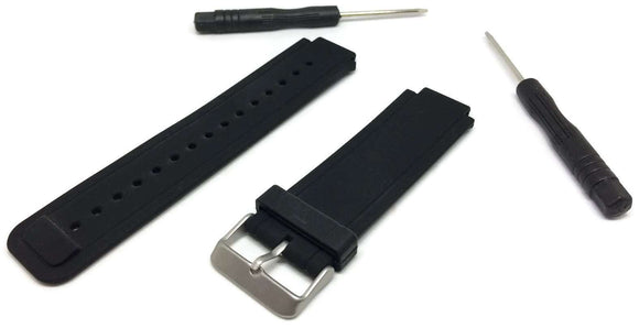 Garmin Vivoactive Black Silicone Watch Strap with Stainless Steel Buckle