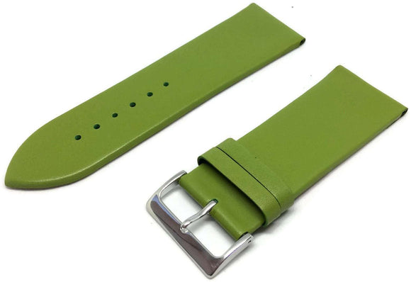 Lime Green Calf Leather Watch Strap Chrome Buckle Size 12mm to 30mm