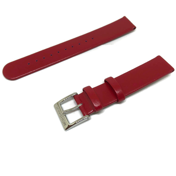 Authentic Mondaine Watch Strap Red Calf Leather 16mm FE3116.30Q
