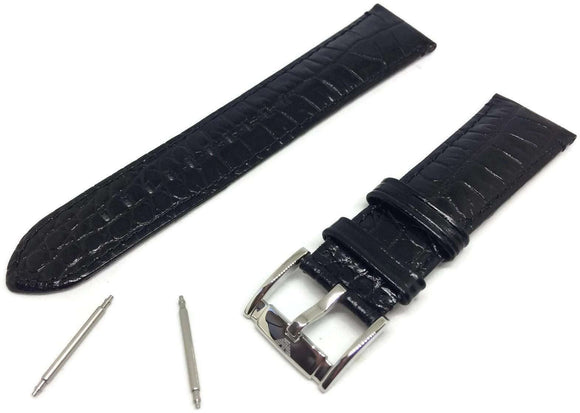 Emporio Armani Leather Watch Strap AR2447 with Stainless Steel Buckle