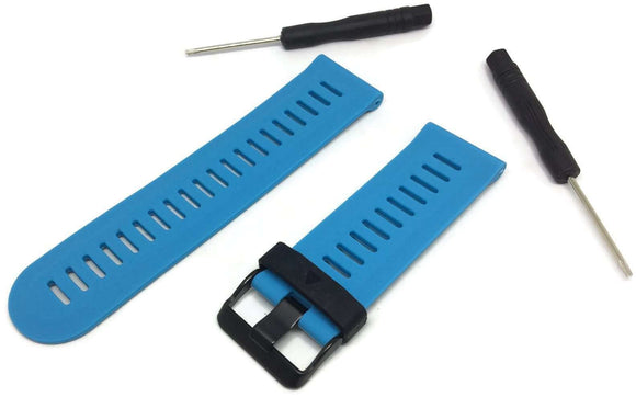 Garmin Fenix 3 Light Blue Silicone Watch Strap with Black Stainless Steel Buckle