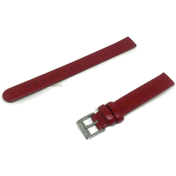 Authentic Mondaine Watch Strap Red Calf Leather 12mm FE311230Q