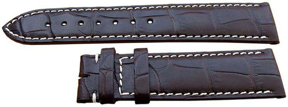 Longines Watch Strap 20mm Brown Alligator