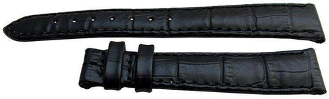 Longines Watch Strap 15mm Black Crocodile Grain