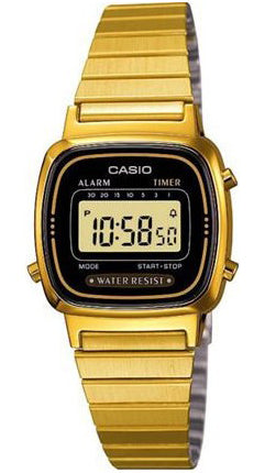 Casio Watch VINTAGE LADY GOLD LA-670WG-1