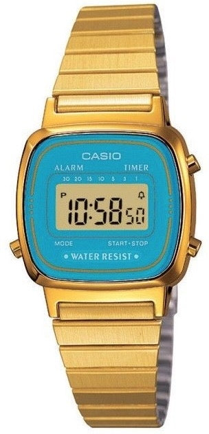 Casio Watch VINTAGE LADY GOLD LA-670WGA-2
