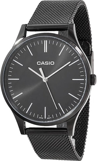 Casio Watch CLASSIC BLACK MESH BLACK LTP-E140B-1A