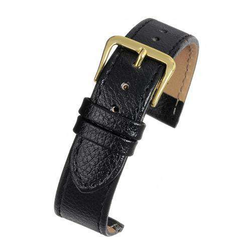 Crocodile Grain Watch Black Leather - Economy Collection