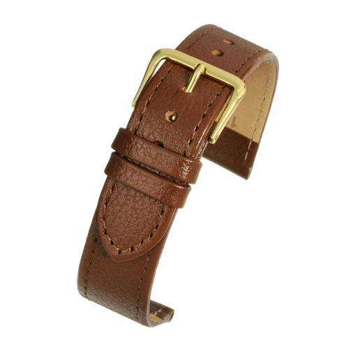 Crocodile Grain Watch Dark Brown Leather - Economy Collection