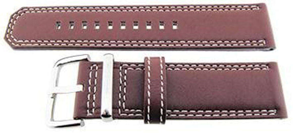 Authentic Seiko Watch Strap 24mm Calf - Brown 4LP6JB