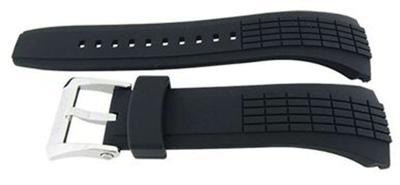 Authentic Seiko Watch Strap 26mm Rubber - Black 4LJ7JB