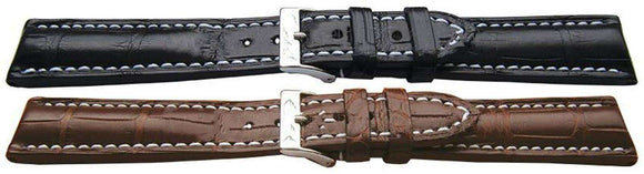 Genuine Alligator Watch Strap Handmade Super Padded for Breitling Bentley
