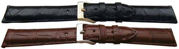 Genuine Alligator Watch Strap Handmade Padded Matt
