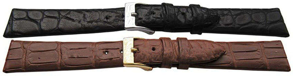 Genuine Alligator Watch Strap Handmade Flat Profile Matt