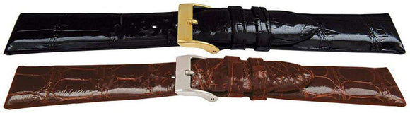 Genuine Alligator Watch Strap Hand Flat Profile High Gloss