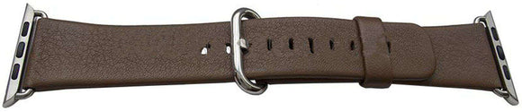 iWatch Strap Brown 42mm Calf Stainless Steel Buckle