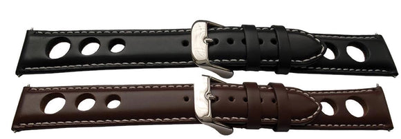 Grand Prix Rally Watch Strap Calf Leather Padded Goodwood Style  20mm,22mm and 24mm