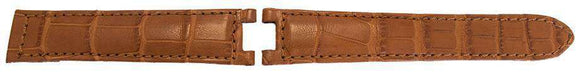 Cartier Pasha Watch Strap Cognac Genuine Alligator 20mm