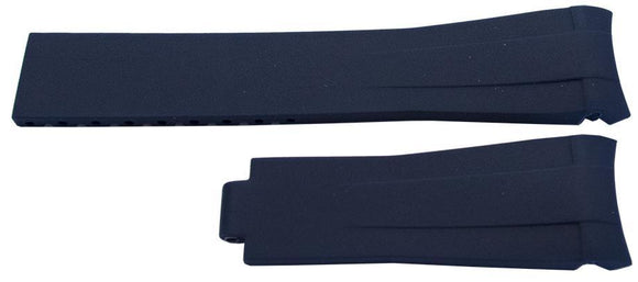 Rubber Watch Strap for Rolex GMT Oyster & Omega SeaMaster Dark Blue 20mm