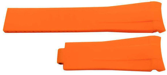 Rubber Watch Strap for Rolex GMT Oyster & Omega SeaMaster Orange 20mm