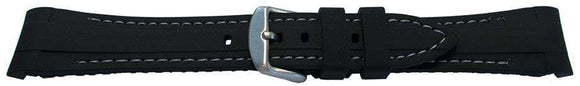 Rubber Watch Strap for Rolex GMT Oyster & Omega SeaMaster Black/Grey Stitched 20mm
