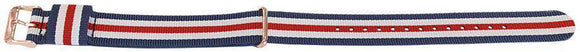 Daniel Wellington Cambridge Style Watch Strap 5 Stripe N.A.T.O Gold Plated Buckle 18mm and 20mm