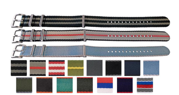 N.A.T.O Zulu G10 Style Watch Strap High Quality Seat Belt Fabric  Stainless Steel Luxury Buckle