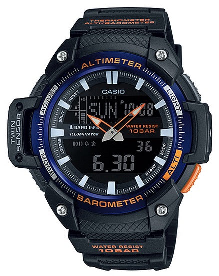 Casio Watch COLLECTION SPORT TWIN SENSOR ALTIMETER BAROMETER SGW-450H-2B