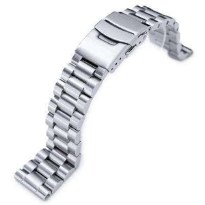 20mm Endmill Solid 316L Stainless Steel Watch Bracelet, Straight End