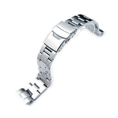20mm Super Oyster Watch Bracelet for SEIKO Mid-size Diver SKX023, Diver Clasp, Brushed