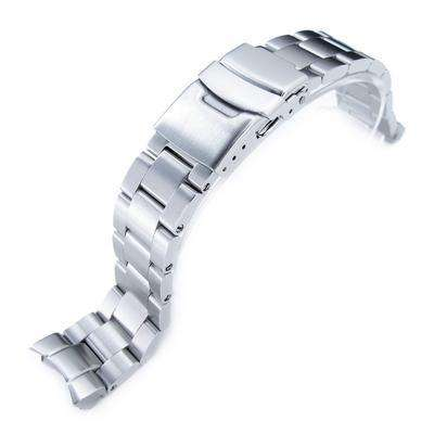 20mm Super Oyster 316L Stainless Steel Watch Band for Seiko SKX013, Diver Clasp Brushed