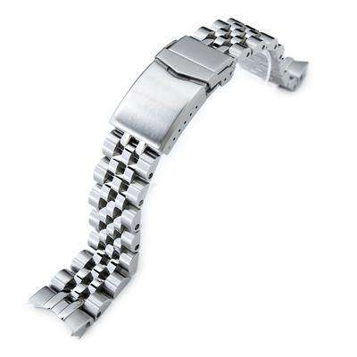 20mm ANGUS Jubilee 316L Stainless Steel Watch Bracelet for Seiko Alpinist SARB017, Brushed, V-Clasp
