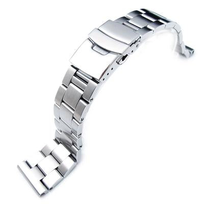 19mm, 20mm, 21mm SOLID 316L Stainless Steel Super Oyster Straight End Watch Band