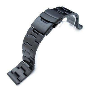 19mm, 20mm or 21mm PVD Black 316L Stainless Steel Super Oyster Watch Bracelet