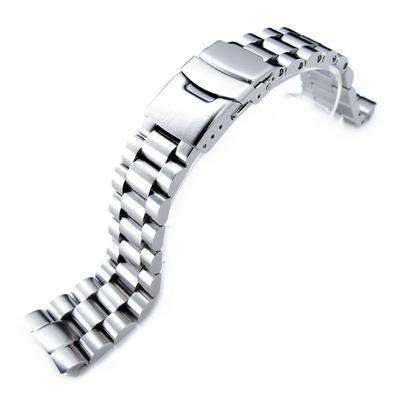 22mm Endmill 316L Stainless Steel Watch Bracelet for Seiko New Turtles SRP777 , PADI SRPA21 Diver Clasp Brushed
