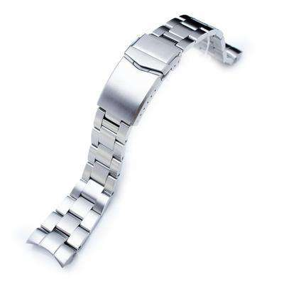 Strapcode Watch Bracelet 22mm Super Oyster 316L Stainless Steel Watch Band for Orient Mako II , Ray II, V-Clasp Button Double Lock