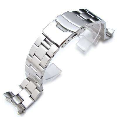 22mm Super 3D Oyster Solid Link 316L Stainless Steel Bracelet for Seiko SKX007 Diver