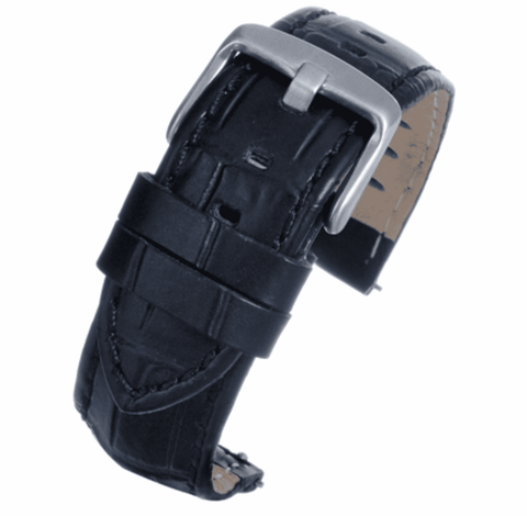 Black Croco Calf Watch Strap complete with quick release spring bars