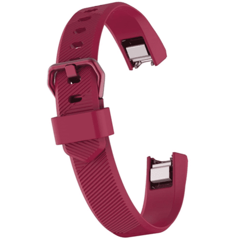 Watch Strap for FITBIT ALTA Purple Silicone Rubber Sizes Small and Large