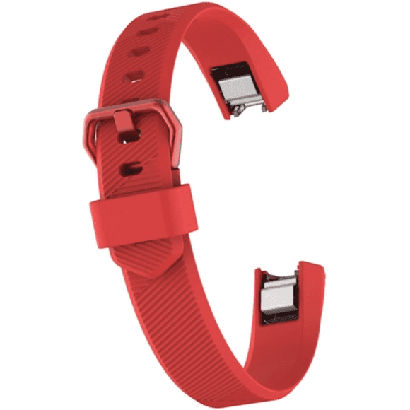 Watch Strap for FITBIT ALTA Red Silicone Rubber Sizes Small and Large