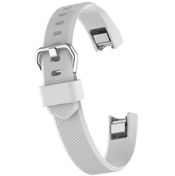 Watch Strap for FITBIT ALTA White Silicone Rubber Sizes Small and Large