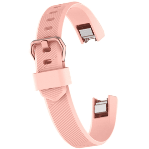 Watch Strap for FITBIT ALTA Pink Silicone Rubber Sizes Small and Large