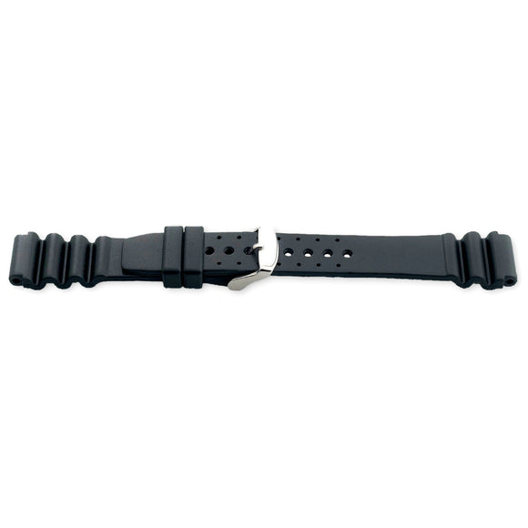 Diving Watch Strap ISO Swiss, Vulcanized Rubber NYA 14mm to 22mm