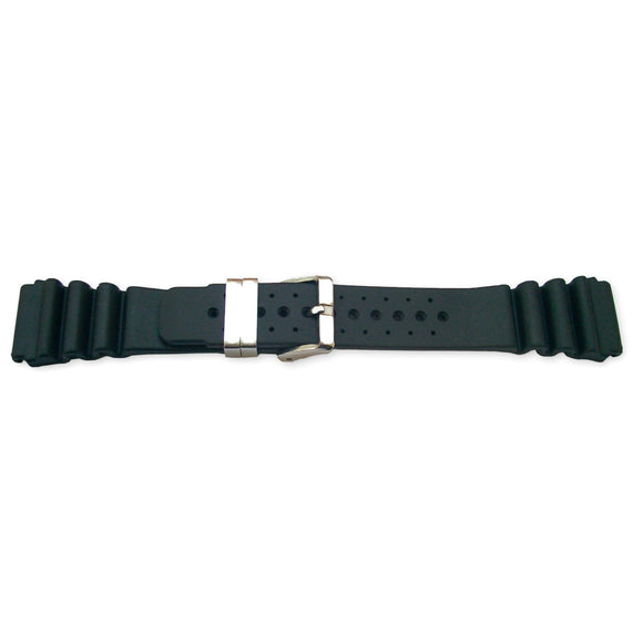 Diving Watch Strap ISO Swiss, Vulcanized Rubber AMON 24mm