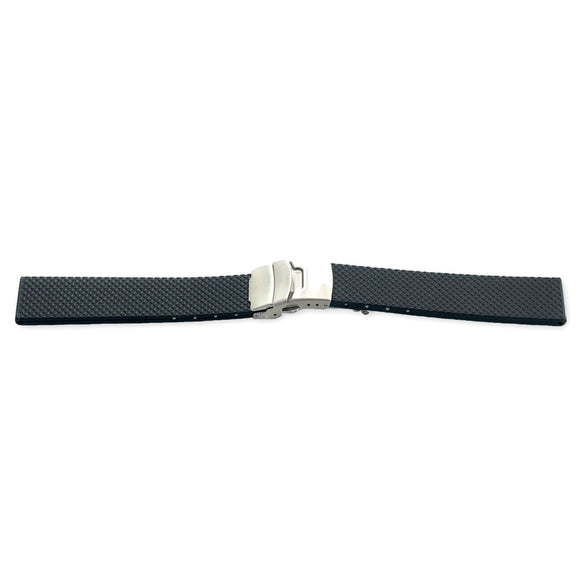 Diving Watch Strap ISO Swiss, Vulcanized Rubber TYPHON 18mm, 20mm and 22mm
