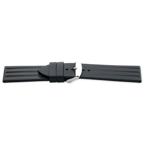 Diving Watch Strap ISO Swiss, Vulcanized Rubber HOROS 22mm