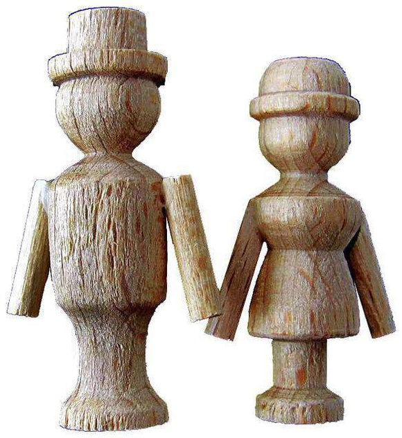 Cuckoo Clock Dancing Couple Wooden