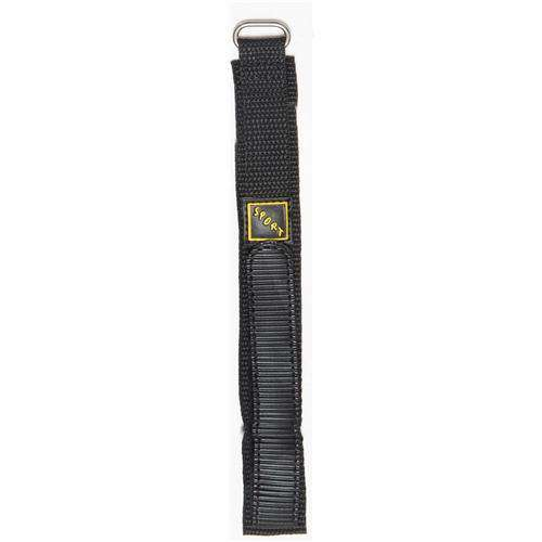 Velcro Watch Strap Black with Stainless Steel Ring 14mm, 18mm and 20mm