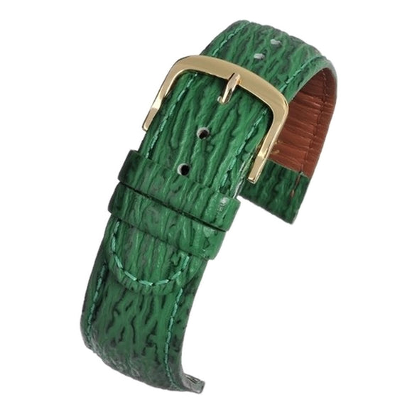 Shark Grain Watch Strap Padded Green 16mm and 20mm