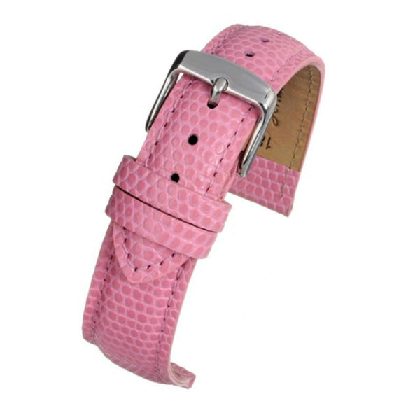 Calf Leather Watch Strap Pink Lizard Grain